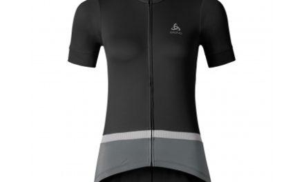 Odlo Fujin Stand-up Collar – Cykeltrøje med korte ærmer – Dame – Sort