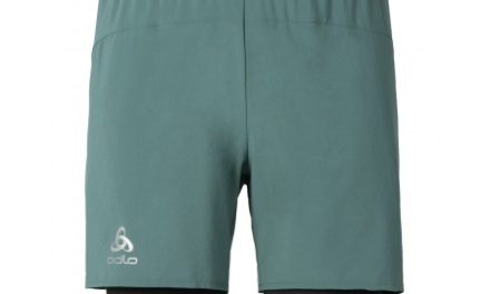 Odlo herre løbeshorts – Kanon – Meleret armygrøn og mørkegrå