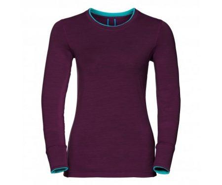 Odlo – Natural 100 Merino Shirt Crew Neck – Dame – Blomme