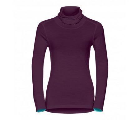 Odlo – Natural 100 Merino Shirt Turtle Neck – Dame – Blomme