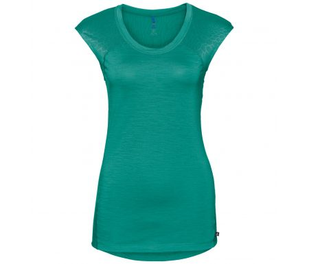 Odlo – Natural + Ceramiwool light Suw Top – Løbe t-shirt – Dame – Grøn