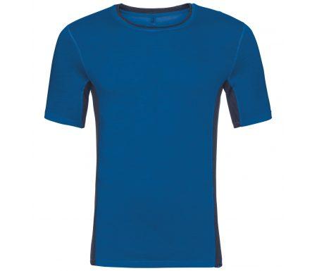 Odlo – Natural + Ceramiwool light Suw Top – Løbe t-shirt – Herre – Blå