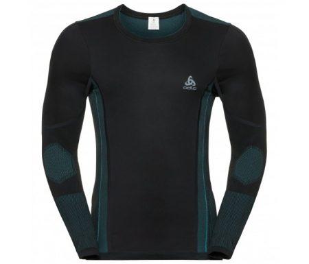 Odlo – Performance Windshield XC-skiing light shirt – Herre – Sort/blå