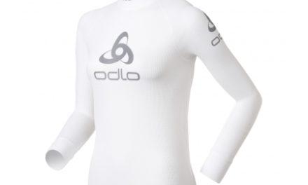 Odlo Shirt l/s Crew Neck Logo Line – Løbebluse – Dame – Hvid