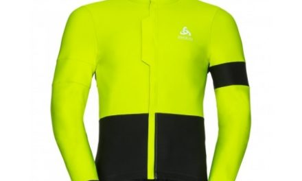 Odlo – Vlaanderen jacket – Cykeljakke – Herre – Neongul/sort