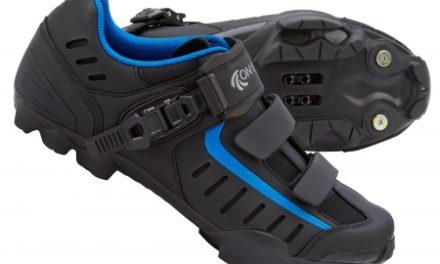 On Gear Cykelsko XC MTB – Matsort med blå detaljer