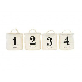 Opbevaringskurve med print – 1-2-3-4 fra House Doctor fra House Doctor