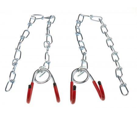 Ophængskroge med kæde 2 stk