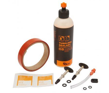 Orange Seal Tubeless Kit – 18 mm fælgtape – 237 ml. Regular væske