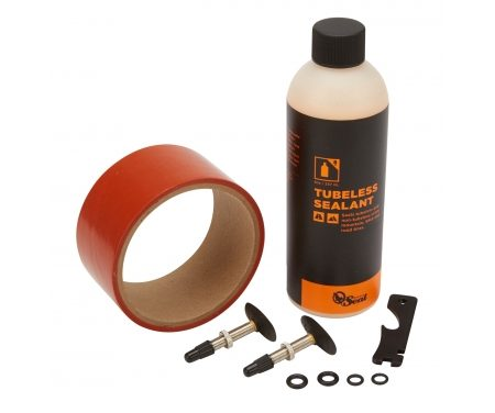 Orange Seal Tubeless Kit – 45 mm fælgtape – 237 ml. Regular væske