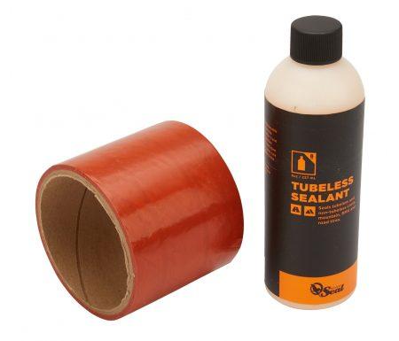 Orange Seal Tubeless Kit – 75 mm fælgtape – 237 ml. Regular væske
