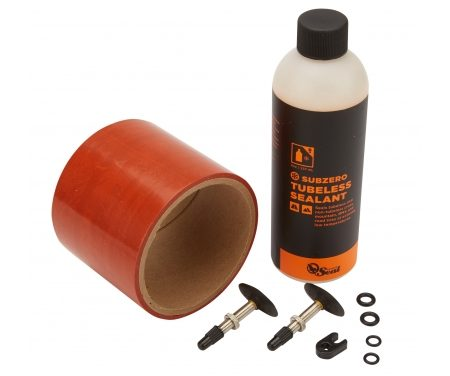 Orange Seal Tubeless Kit – 75 mm fælgtape – 237 ml. Subzero væske