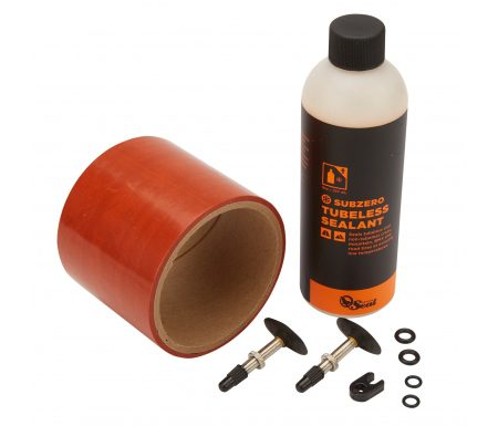 Orange Seal Tubeless Kit – 75 mm fælgtape – 237 ml. Subzero væske