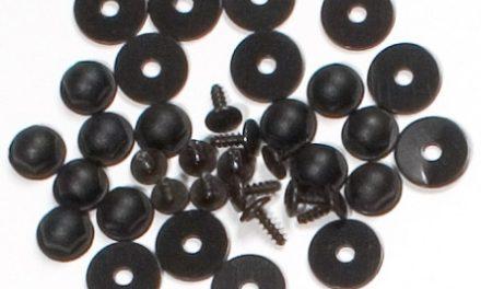 Ortlieb skruesæt universelt, 12 skruer og plastik møtrikker