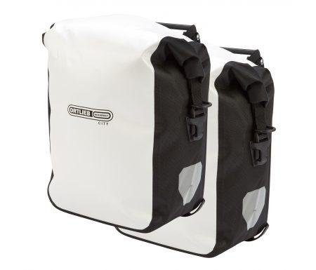 Ortlieb – Sport-Roller City – Hvid/Sort 2 x 12,5 liter
