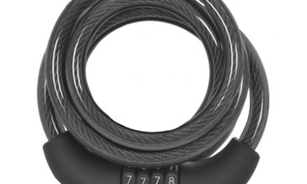 OXC Kabellås – 10mm x 1500mm – Med 4 ciffer kode