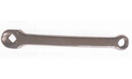 Pedalarm til venstre side chrom stål 170 mm lang