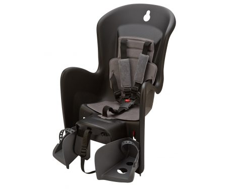 Polisport Bilby CFS – Cykelstol – Bagagebærermontering – Sort/grå