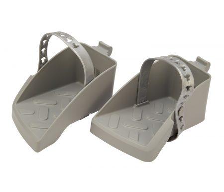 Polisport Guppy Maxi fodstøtter med remme – Mørkegrå