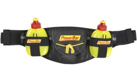 Powerbar – Bæltetaske – Sort/Gul – inklusiv 2 gel flasker