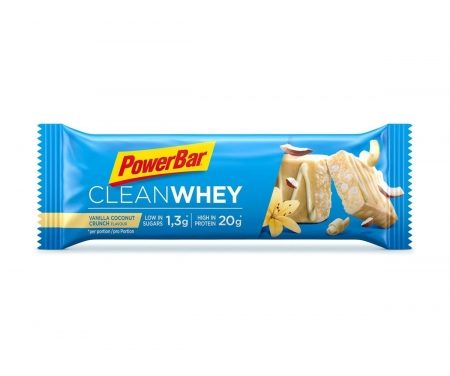 Powerbar Clean whey – Vanilla coconut crunch – 60 gram