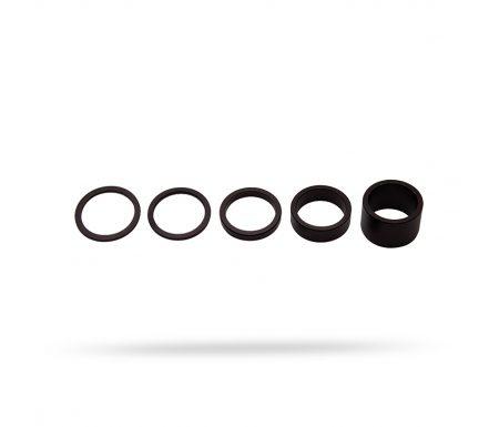 """PRO Spacer sæt – Til styrfittings 1 1/8"""" – Aluminium – 2-2,5-5-10 og 20mm høje"""