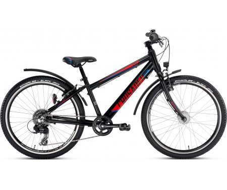 "Puky – Drengecykel – Crusader 24-8 Alu light – 24"" med 8 gear – Sort/rød"