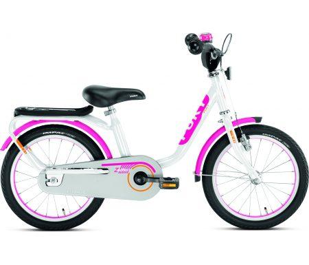 """Puky – Pigecykel – Z 6 Edition 16"""" i stål – Hvid/pink"""