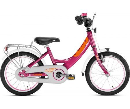 "Puky – Pigecykel – ZL 16 Alu Edition 16"" i alu – Kirsebær/orange"