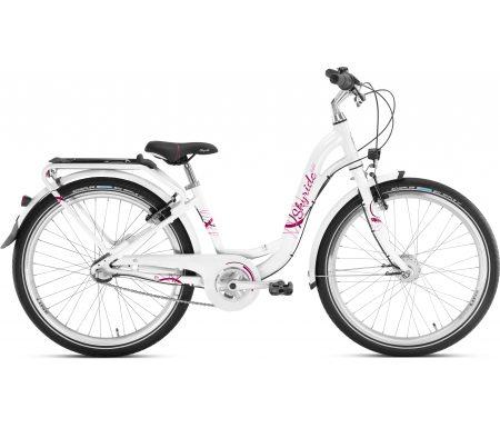 """Puky – Skyride 24-3 Alu light – Pigecykel – 24"""" med 3 gear – Hvid"""