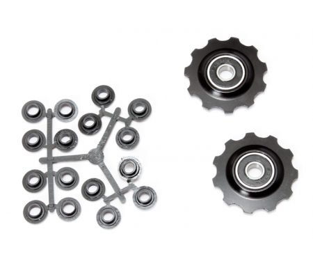 Pulleyhjul 11 tands i aluminium sort med lukkede lejer – Shimano 9 og 10 gear
