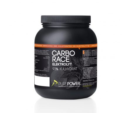 PurePower Carbo Race – Elektrolyt energidrik – Appelsin 1,5 kg