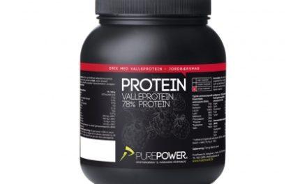 PurePower Proteinpulver – Valleproteindrik – Jordbær 1 kg