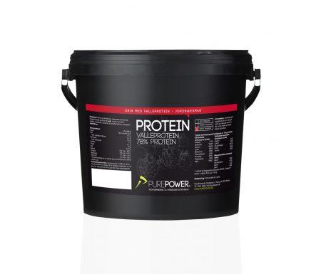 PurePower Proteinpulver -Valleproteindrik – Jordbær 3 kg