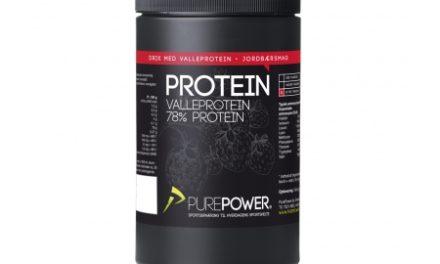 PurePower Proteinpulver – Valleproteindrik – Jordbær 325 gram