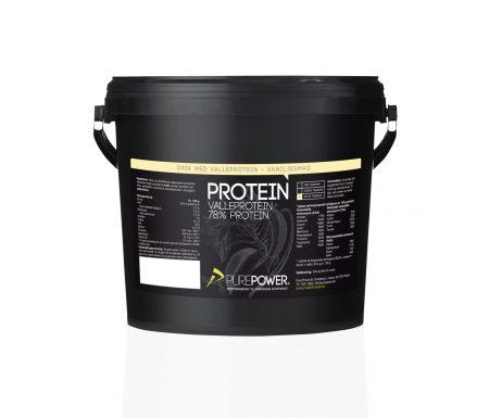 PurePower Proteinpulver – Valleproteindrik Vanilje 3 kg