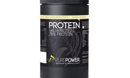 PurePower Proteinpulver – Valleproteindrik – Vanilje 325 gram