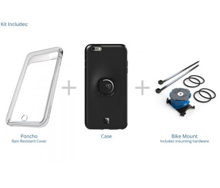 Quad Lock – Bike kit – Cover, front-cover og beslag til styr/frempind – Til iPhone 6+/6s+