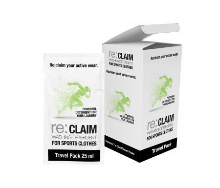 Re:claim Washing Detergent Travel Pack – Rejsepakke med 7×25 ml vaskemiddel