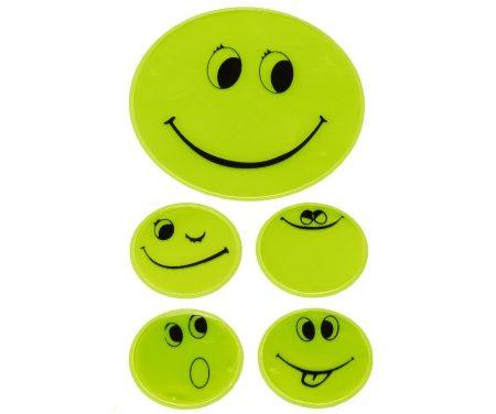 Refleksark med smileys Grøn