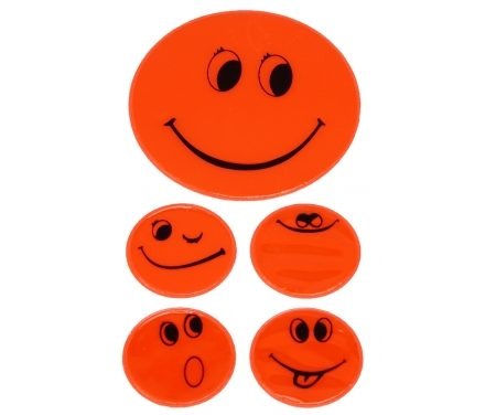 Refleksark med smileys Orange