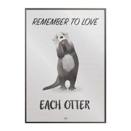 Remember to love each otter plakat fra Hipd