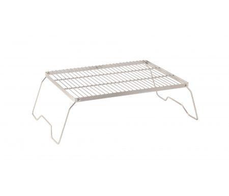 Robens Lassen Grill Trivet Combo L – grill og bålstativ – 43.5 x 32 x 16.5 cm – Grå