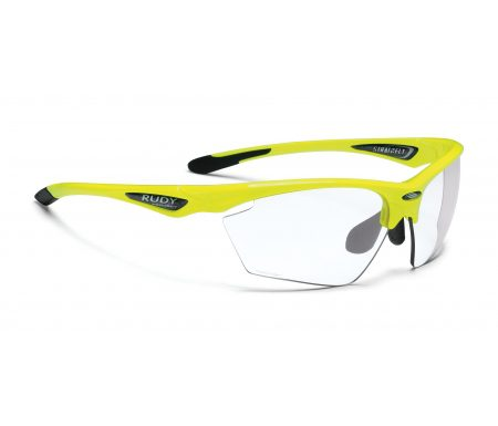 Rudy Project Stratofly – Løbe- og cykelbrille – Photoclear linser – Fluo Gul