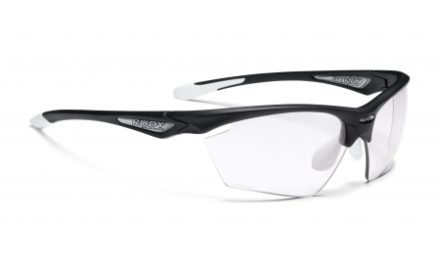 Rudy Project Stratofly – Løbe- og cykelbrille – Photoclear linser – Sort Gloss