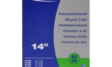 Schwalbe slange 14 x 1,75-2,50 med Auto ventil AV2A