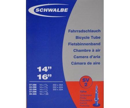 """Schwalbe slange 14×1 3/8"""" Racer ventil SV2"""