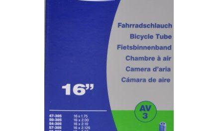 Schwalbe slange 16 x 1,75-2,50 med Auto ventil AV3