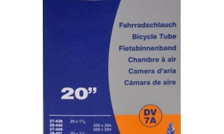 Schwalbe slange 20 x 1. 3/8 med almindelig ventil DV7A