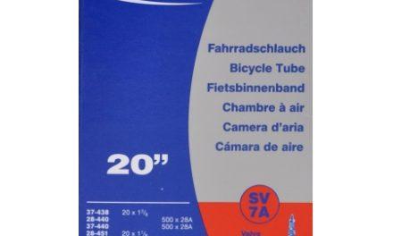 Schwalbe slange 20 x 1 3/8 med Racer ventil SV7A